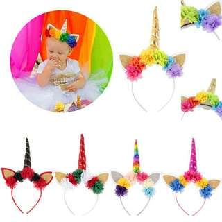 *FREE DELIVERY to WM only / Pre order 15-18 days* Kids / Baby unicorn cat ears headband each as shown design/color. Free delivery is applied for this item.