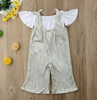 🍀Baby Girl Off Shoulder Top+Trousers 2pcs Set🍀
