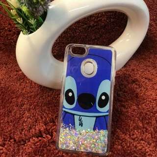 Stitch Moving Glitter Liquid Case