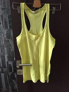 Pull and bear tank top summer lemon