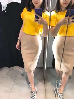 超值~DOLCE & GABBANA 高級精品 二手過膝窄裙 義大利尺寸40號(XS)
