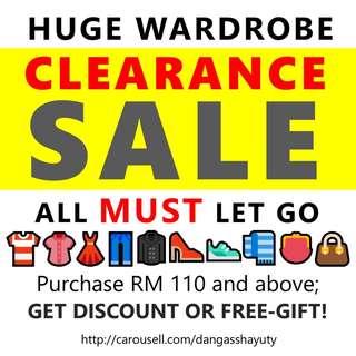WARDROBE CLEARANCE SALE!!!