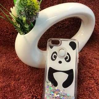 Panda Moving Glitter Liquid Case