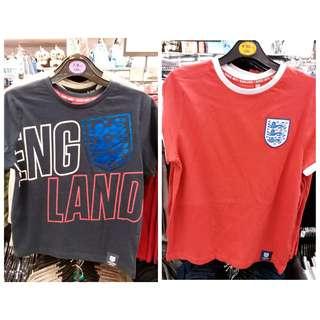 英國代購Primark英格蘭球隊官方tshirt  (尺碼有7-8,8-9,9-10,10-11及11-12歲)