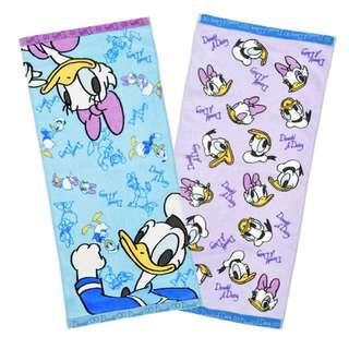 Japan Disneystore Disney Store Donald & Daisy Duck Standard Face Towel Set