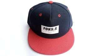 Topi Snapback Foks Sicflic Navy Red