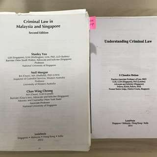 Criminal Law Texts (SMU/NUS)