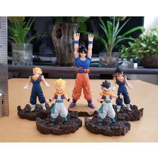 Dragon Ball Z deformation Gokou etc Figures 5pcs