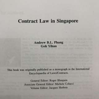 Contract Law (SMU/NUS)
