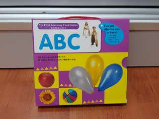 Abc alphabets learning flash cards
