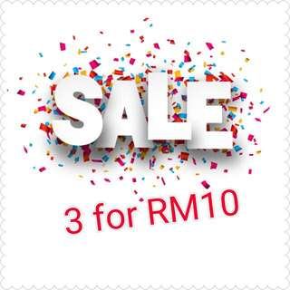 Sale!! 🛍3 For Rm10
