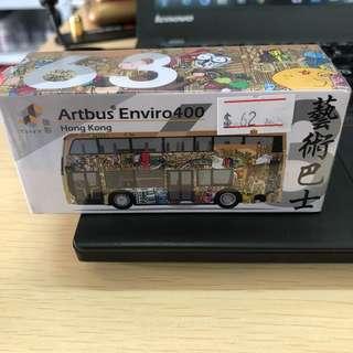 Tiny 微影 ATC64134 #63 City 合金車仔 Enviro 400 藝術巴士
