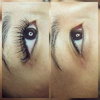 Classic set of eyelash extensions
