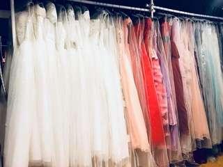 Bridal wear white gown evening dress