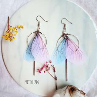 Butterfly earrings handmade
