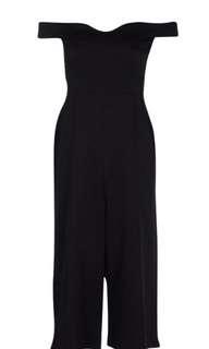 Black medium jumpsuit with tags
