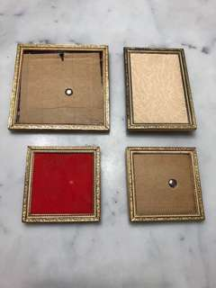 Vintage Antique (Brass?) Photo Frames