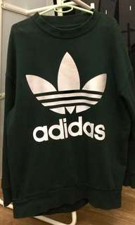 Boxy Forest Green Adidas Sweatshirt
