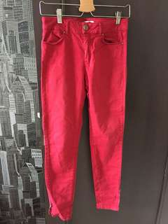 Zara basic denim red authentic