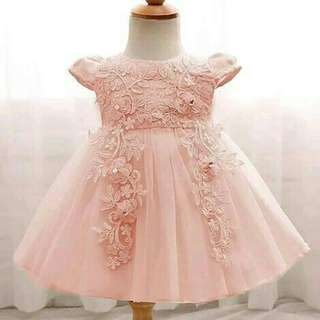 *FREE DELIVERY to WM only / Ready stock* Kids 12-24mth embroidery sequins dress as shown design/color. Free delivery is applied for this item.