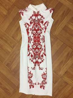 White elegan dress