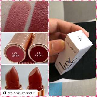 Colourpop Lux Lipstick in Lay Over