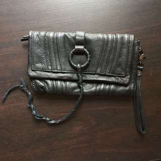 黑色軟皮小手袋 Small black soft leather clutch bag