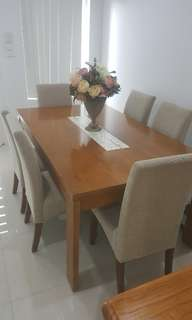 Dining room table with chairs included