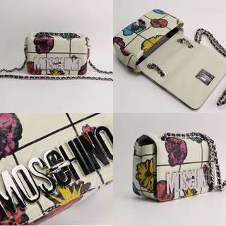 Moschino Crossbody bag white floral