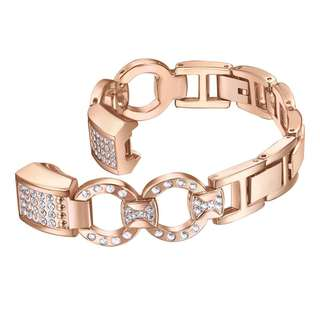 457. Bayite Replacement Straps Stainless Steel Chain Links Metal Strap Bracelet