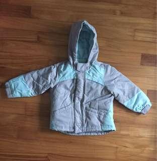 Ski jacket with overall