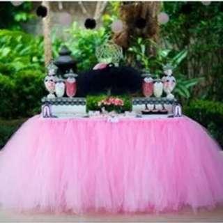 Pink tutu dress for dessert table