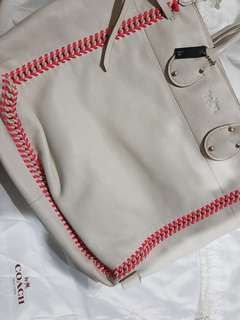 Coach Tatum Tall Tote Pop Lacing Whiplash Leather