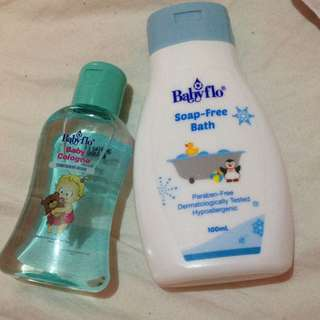 Baby flo wash and cologne