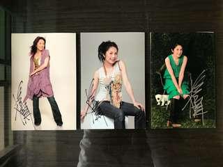 楊千嬅親筆簽名照x3 / Miriam Yeung Signed Autographs x3