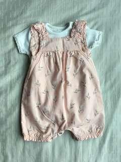 Pink Baby Girl Romper