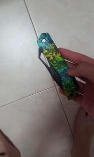 Ghillie painted job pocket knife