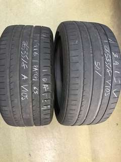 265/35/18 yokohama V105 2pc old tyre $45