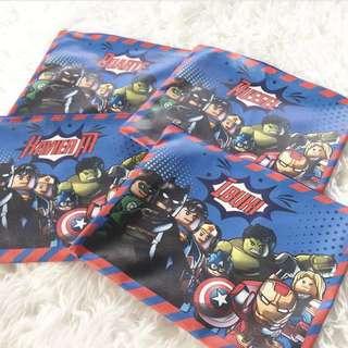 CUSTOM TOILETRIES BAG marvel batman captain america hulk iron man green lantern superman