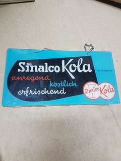 Sinalco glass signage / sign board