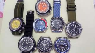 Great new/used or like new conditions Seiko diver watches