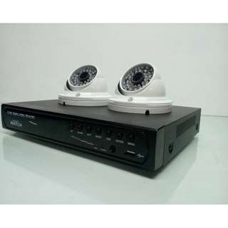 CCTV Surveillance Camera Package with Indoor Camera powered with 2.0MP 1080P Resolution Display