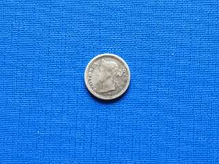 Strait settlement Queen Victoria 5 cents coin 1879H (RARE)