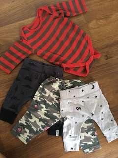 Bundle of baby's apparels - pants & rompers