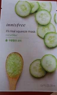 Innisfree masks cucumber