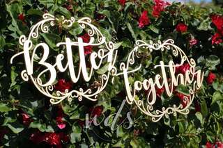 Better Together Wedding Signage