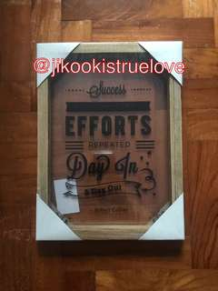 Artbox Klosh Wooden Frame with inspiration quote