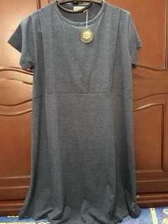 Dress Hamil/Menyusui Warna Darkblue Bukaan Samping Kanan-Kiri