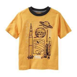 SALE OSHKOSH Glow-In-The-Dark Space Tech Tee
