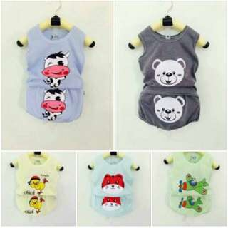 Cotton cartoon clothes set for babies/kids/ toddlers